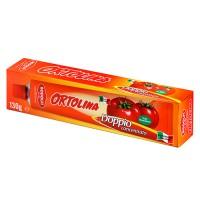 Ortolina томатная паста двойной концентрат, тюбик, 130 гр