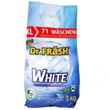 """Dr.FRASH """"WHITE"""" Бесфосфатный концентрированный стиральный порошок  для стирки белого и светлого белья 3кг 71 стирка"""