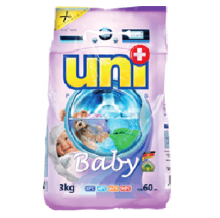 """UNIPLUS Концентрированный  стиральный порошок """" Baby""""   стирок 51 3 кг"""