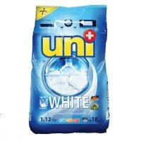 """UNIPLUS Концентрированный  стиральный порошок """"WHITE""""  18 стирок 1,12 кг"""