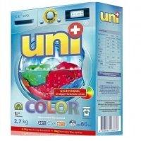 """UNIPLUS Концентрированный  стиральный порошок """"COLOR"""" + мерный стакан 60 стирок 2,7 кг"""