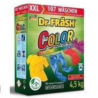 """Dr.Frash Бесфосфатный концентрированный стиральный порошок """"COLOR"""" 4,5кг 107 стирок + мерный стакан"""