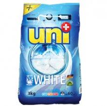 """UNIPLUS Cтиральный порошок """"WHITE""""  стирок 51 3 кг"""