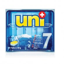 """UNIPLUS Чистящее средство для посуды (таблетки) """"7 в 1"""" для посудомоечных машин 54шт.х18г"""